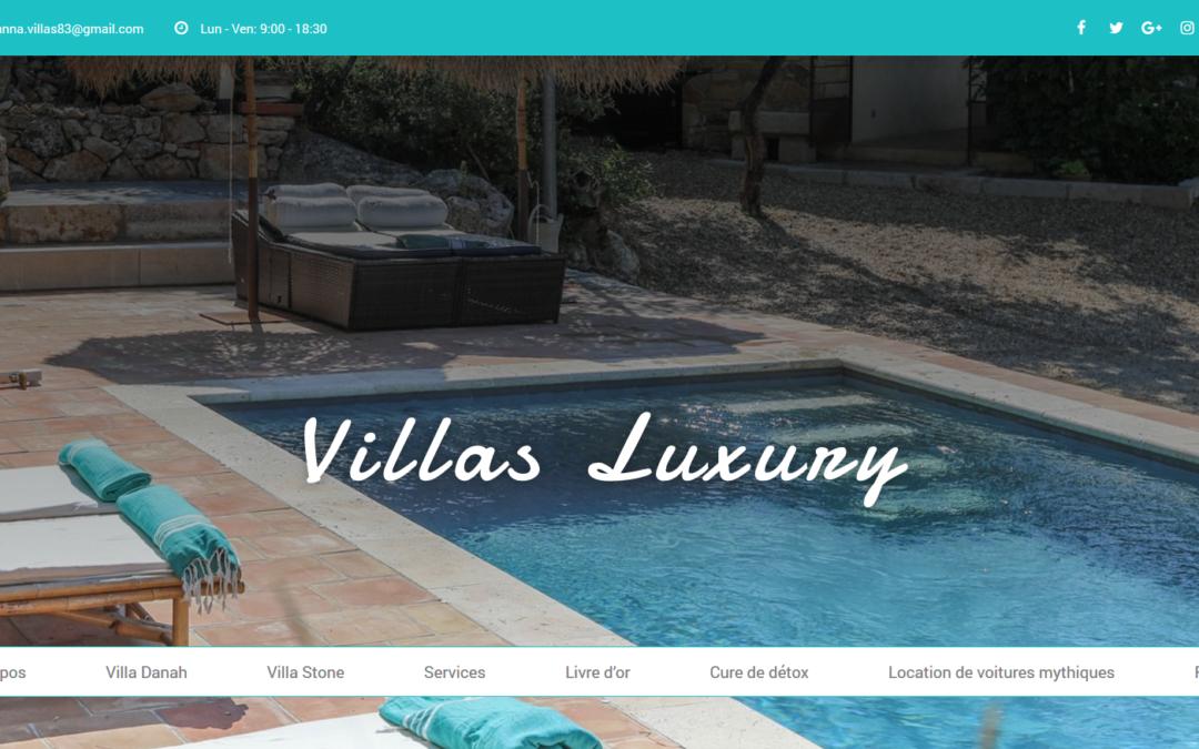 Nouveau site internet villasluxury83.com